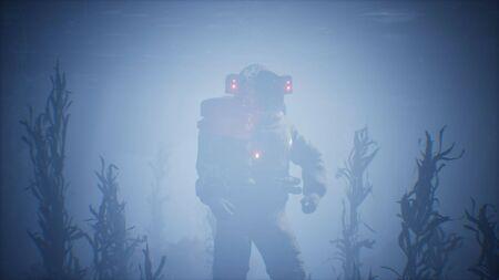 Astronauta astronauta en el mar