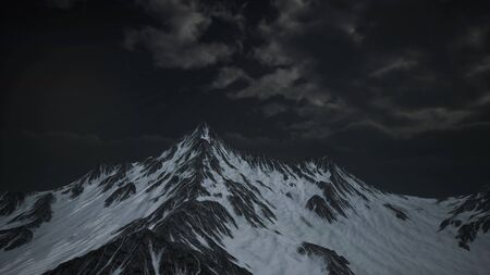 mountains in evening cloudy sky. Caucasus mountains