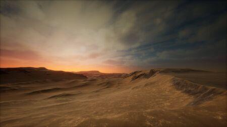 desert storm in sand desert Foto de archivo