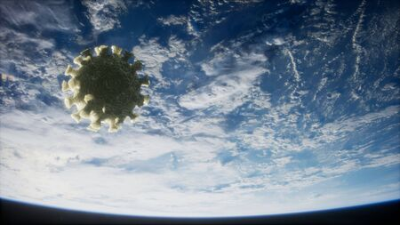 Coronavirus COVID-19 on the Earth orbit.