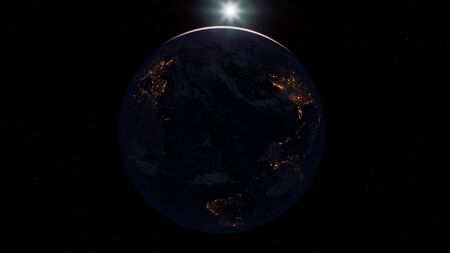 earth globe planet from space orbit. Фото со стока