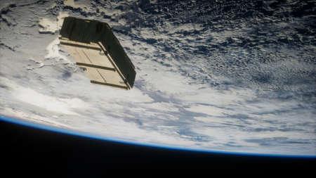 old wood box on Earth orbit.