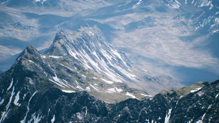 Aerial View Landscape of Mountais with Snow covered Stock fotó