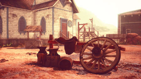 An old American western style town Stock Photo