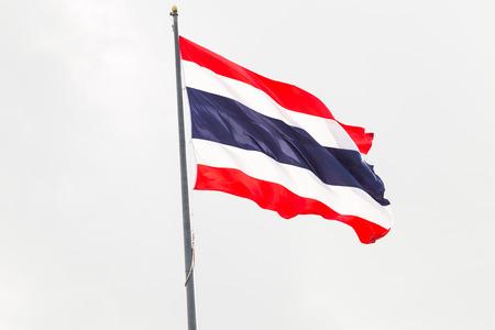 Thai flag waving in the wind photo