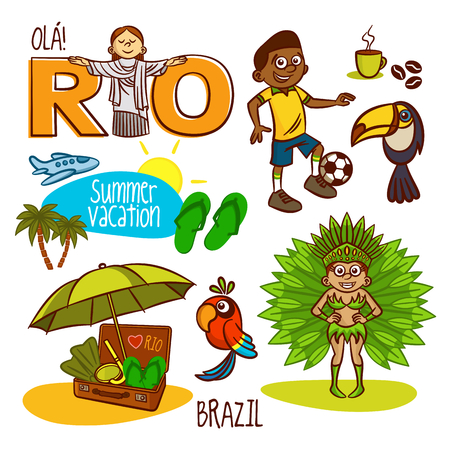 caribbean party: Rio Brazil Summer Vacation Travel Set