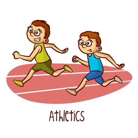 athletics: Sports Athletics Vector Illustration