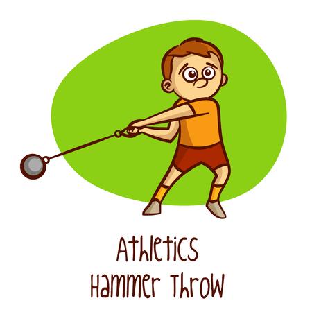 hammer throw: Hammer Throw Vector