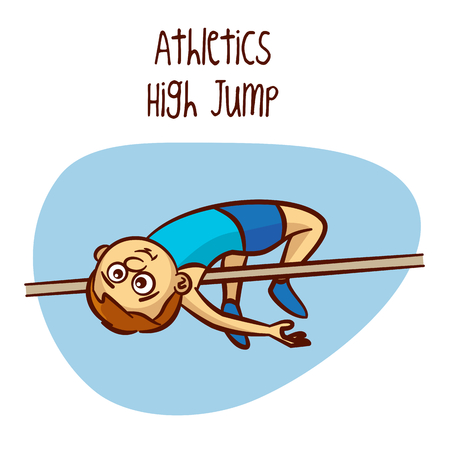 high: High Jump Vector Illustration