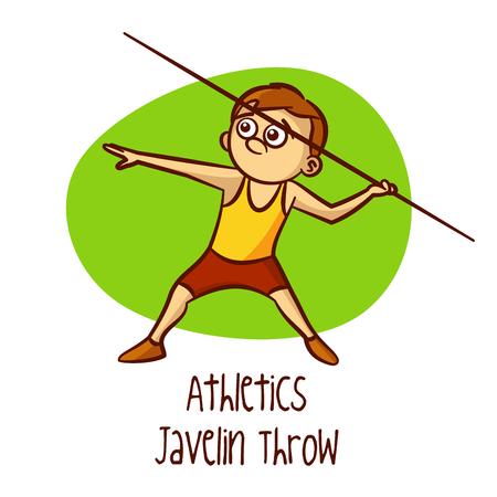 lanzamiento de jabalina: Javelin Throw vectorial Vectores