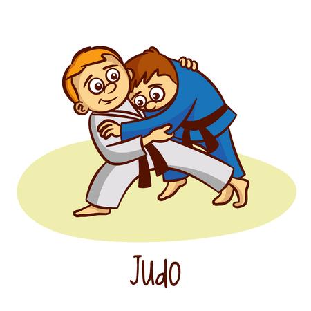 Judo Vector  イラスト・ベクター素材