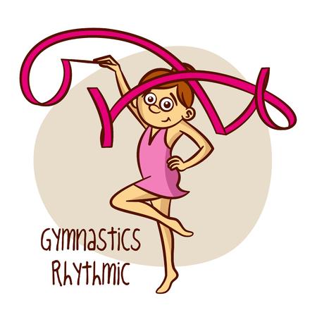 tare: Summer Olympic Sports. Gymnastics Rhythmic. Tare Vector