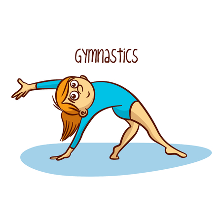 Gymnastics Rhythmic Vector