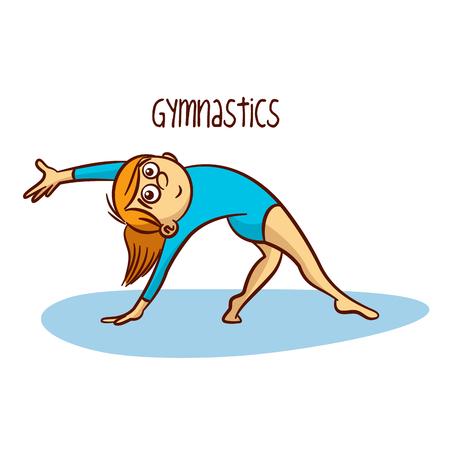Gymnastiek Ritmische Vector