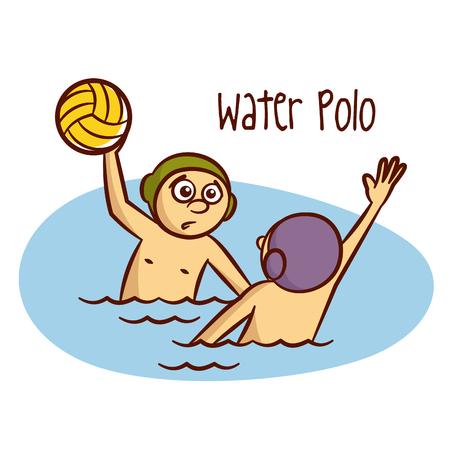 waterpolo: Deportes de verano. Polo del agua del vector Vectores