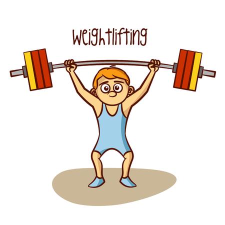 levantamiento de pesas: Vector de pesas