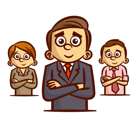 colleagues: Businessman Office Workers Colleagues Clipart Illustration
