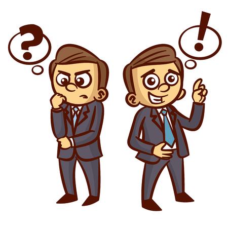 Businessman Ponder Question Idea Clipart