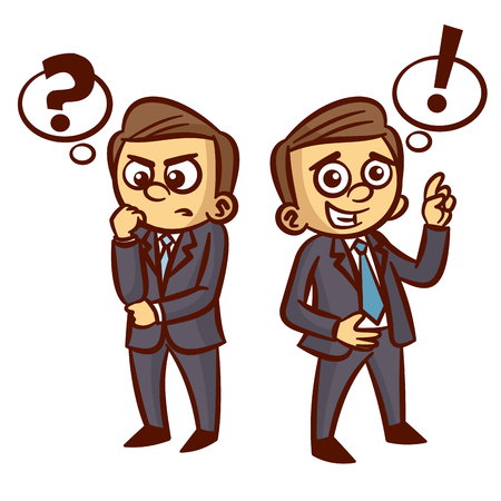 to ponder: Businessman Ponder Question Idea Clipart