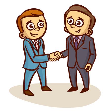 Businessmen Shaking Hands partnership Clipart