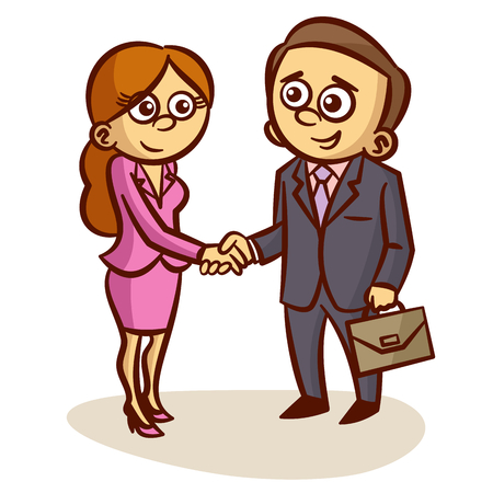 Business Partners Shaking Hands Partnership Clipart