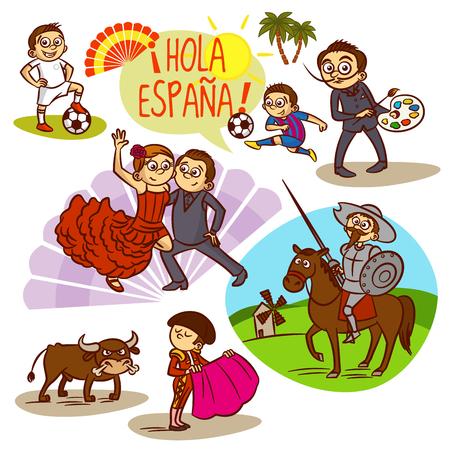 Spain Flamenco Corrida Football Travelling Clipart