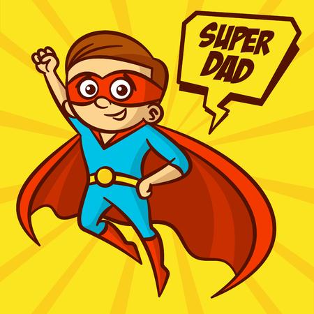 suoer Dad Family Illustration Clipart Иллюстрация