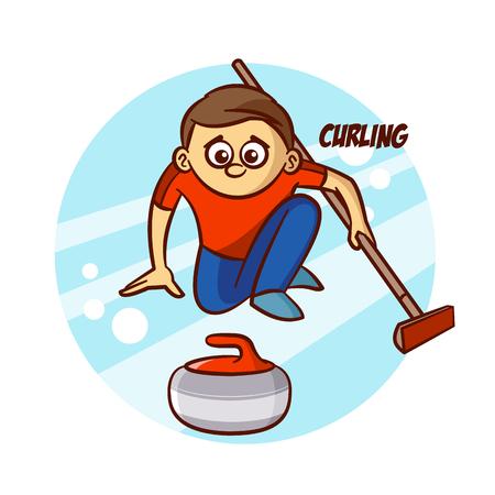 Winter Sport Curling Sticker