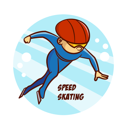 Winter Sport Speed Skating Sticker