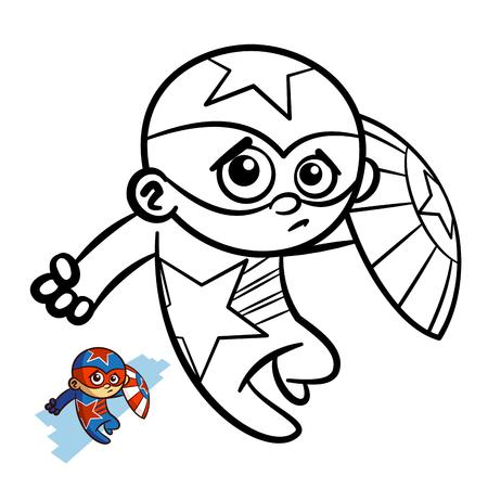 Libro Para Colorear Superheroe Personaje De Dibujos Animados