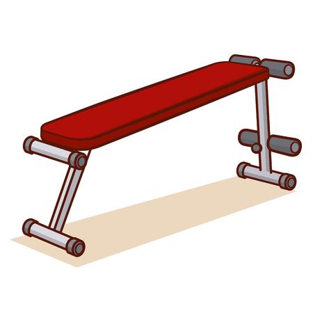 Bankdrückengymnastik, lokalisiert auf weißer Hintergrund Vektor-Illustration Standard-Bild - 78491108