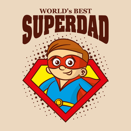 超级爸爸标志卡通人物超级英雄