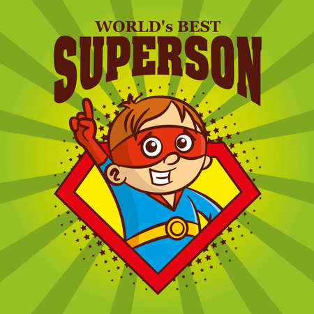 Superson logo Cartoon character superhero
