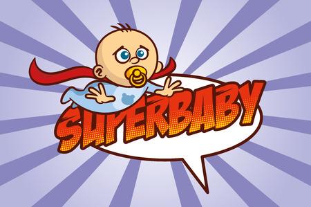 Superhéroe bebé ilustración vectorial Foto de archivo