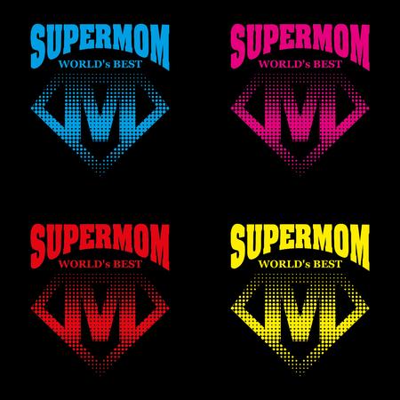 Super mom design. Illustration