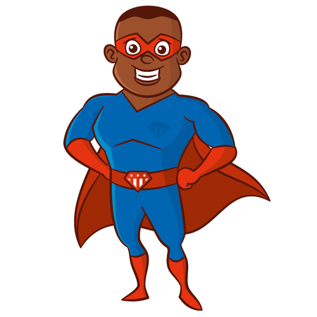 Super African-American man illustration. Illustration