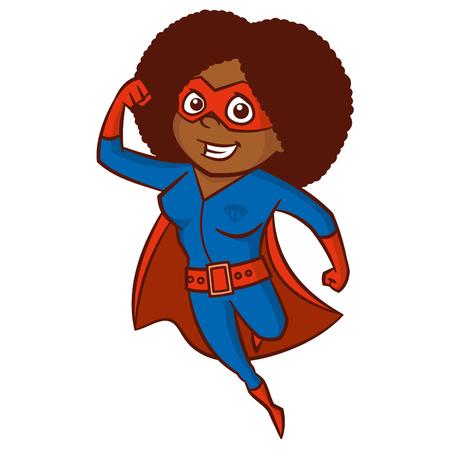 Super hero woman Cartoon character Stock Vector - 86220451