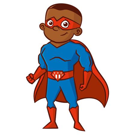Superhero boy Cartoon character