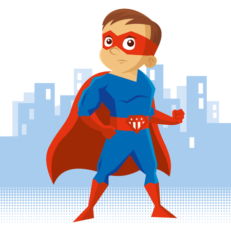 Superhero boy Cartoon character