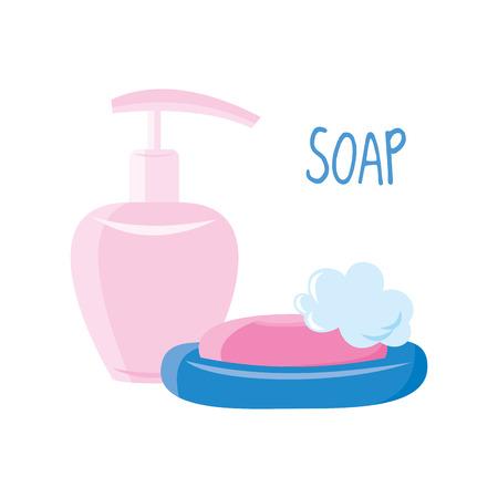 Soap on white background