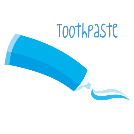 Blue Toothpaste on white background Vector illustration Illustration