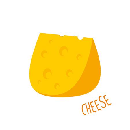 Cheese vector illustration isolated Illustration