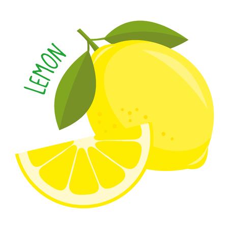 Lemon vector illustration isolated Vectores