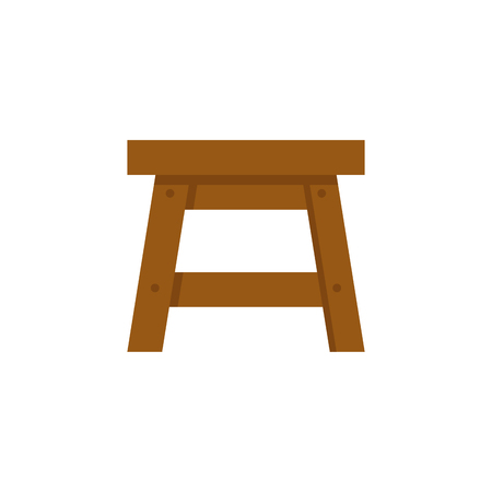 Stool vector illustration isolated on white background.