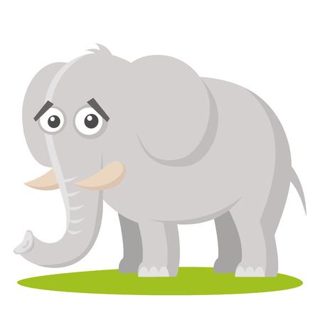 Wild animals. Elephant Wildlife Vector illustration isolated on white background