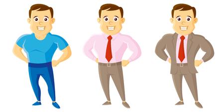 City Style Men Set Cartoon character Illustration