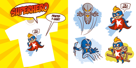 Superhero character Superheroes Set Vector illustration design
