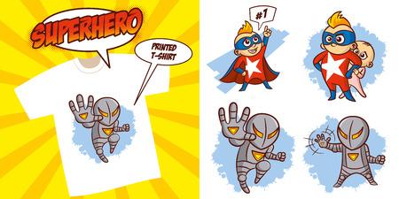 Superhero character Superheroes Set Vector illustration design Stock Vector - 124260173
