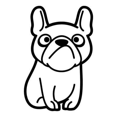 Dog Cartoon character Coloring page Black and white Stock Photo - 124260178