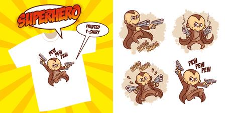 Superhero character Superheroes Set Vector illustration design Stock Vector - 124260195